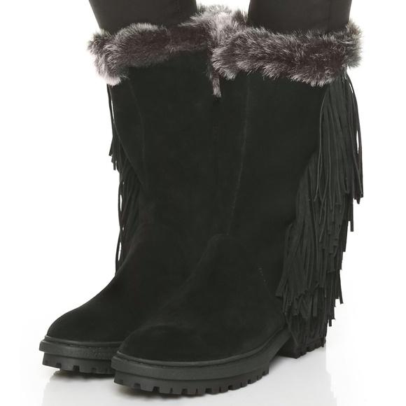 e8c735f68aa6b6 NWT Sam Edelman Tilden Suede Fringe Mid Calf boots